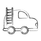 Firefighter car drawing icon Royalty Free Stock Image