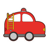 Firefighter car drawing icon Stock Image