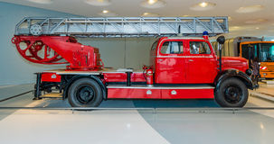 Firefighter car Mercedes-Benz LF3500 with Metz turntable ladder, 1952 Stock Image