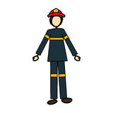 Firefighter cartoon icon image. Vector illustration design Royalty Free Stock Photo