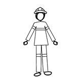 Firefighter cartoon icon image. Vector illustration design Royalty Free Stock Photography