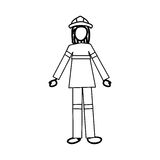 Firefighter cartoon icon image. Vector illustration design Stock Photos