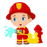 Firefighter. Cartoon illustration of a firefighter Royalty Free Stock Photo