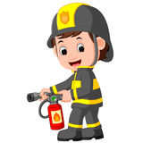 Firefighter cartoon. Illustration of cute firefighter cartoon Royalty Free Stock Photos