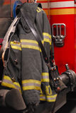 Firefighter Coat Royalty Free Stock Photos