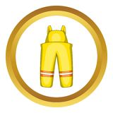 Firefighter costume vector icon Royalty Free Stock Photo