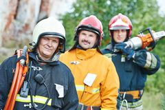 Firefighter crew Royalty Free Stock Photo