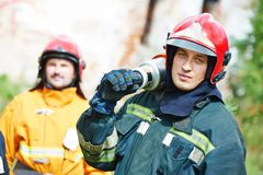 Firefighter crew Royalty Free Stock Photography