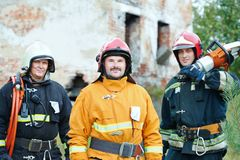Firefighter crew Stock Photos