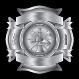 Firefighter Cross Silver Stock Photos