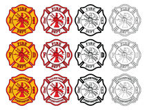 Firefighter Cross Symbol Stock Image