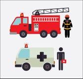 Firefighter design. Over white background, vector illustration Stock Photos