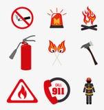 Firefighter design. Over white background, vector illustration Stock Image
