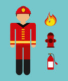 Firefighter. Design, vector illustration eps10 graphic Stock Photos