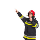 Firefighter directing Royalty Free Stock Photography