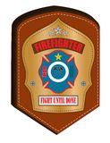 Firefighter emblem. Easy to modify Stock Photo