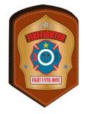 Firefighter emblem Stock Photo
