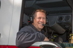 Firefighter Fire Truck Driver Royalty Free Stock Photo