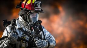 Firefighter in full gear