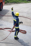 Firefighter giving the thumbs up Royalty Free Stock Images