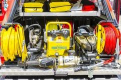 Firefighter heavy duty equipment Royalty Free Stock Photos