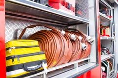 Firefighter heavy duty equipment Royalty Free Stock Photo