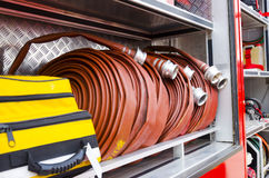 Firefighter heavy duty equipment Royalty Free Stock Image
