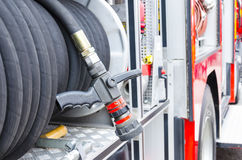 Firefighter heavy duty equipment Stock Photography