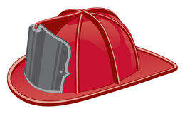 Firefighter Helmet. Illustration of a firefighter\'s helmet or fireman\'s hat Royalty Free Stock Photography