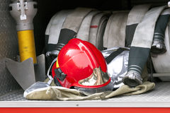 Firefighter helmet Stock Images