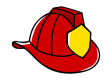 Firefighter Helmet. Doodle illustration of a firefighter helmet Stock Photos