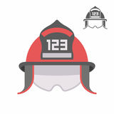 Firefighter helmet. Over white background, vector illustration Royalty Free Stock Photo