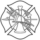 Firefighter Honor Badge Illustration Royalty Free Stock Photo