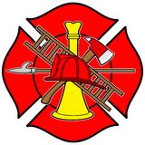 Firefighter Honor Badge Stock Photo