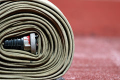 Firefighter hose Royalty Free Stock Photography