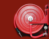 Firefighter hose Royalty Free Stock Image