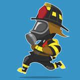 Firefighter hurry. Vector illustration. Hero Royalty Free Stock Image