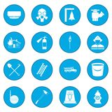 Firefighter icon blue. Firefighter simple icon blue isolated vector illustration Stock Images