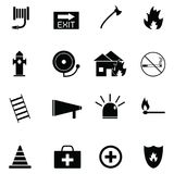 Firefighter icon set. The firefighter of icon set Stock Photos