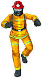 A firefighter. Illustration of a firefighter on a white background Stock Images