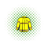 Firefighter jacket icon, comics style Royalty Free Stock Image