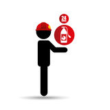 Firefighter job icon. Firefighter job with Fire extinguisher icon,  illustration Royalty Free Stock Image