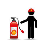 Firefighter job icon. Firefighter job with Fire extinguisher icon,  illustration Royalty Free Stock Photo