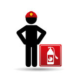 Firefighter job icon. Firefighter job with Fire extinguisher icon,  illustration Stock Photography