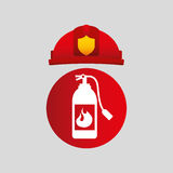 Firefighter job icon. Firefighter job with Fire extinguisher icon,  illustration Royalty Free Stock Photography