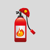 Firefighter job icon. Firefighter job with Fire extinguisher icon,  illustration Stock Image