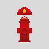 Firefighter job icon Royalty Free Stock Photos