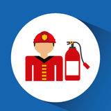 Firefighter job icon Stock Photos
