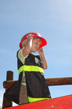 Firefighter kid Royalty Free Stock Images