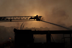 Firefighter on ladder II Stock Image